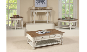 Cottage Cream 1-Drawer End Table
