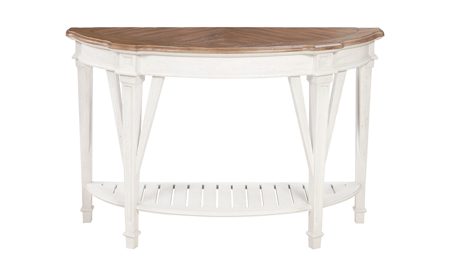 Cottage Cream Demilune Sofa Table