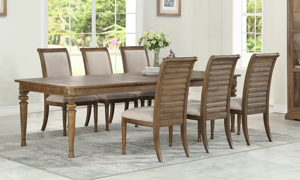 Austin White Oak Rectangular 7-Piece Dining Set