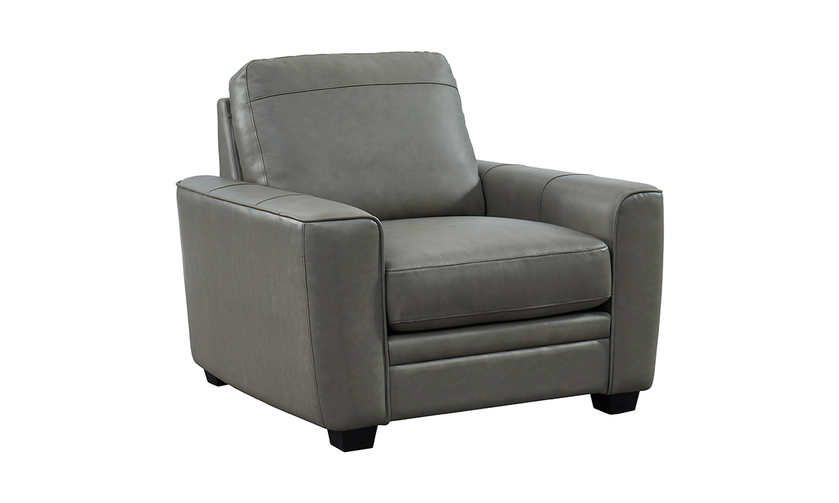 Steel Grey Leather Chair