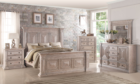 Santa Fe Golden Oak Panel Bedroom Sets with Nightstand