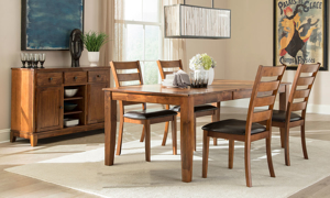 Kona Brandy Solid Mango Wood 5-Piece Dining Set