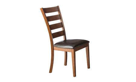 Kona Brandy Solid Mango Wood Ladder Back Dining Chair