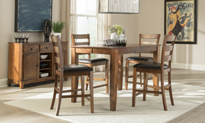 Kona Brandy Solid Mango Wood Counter Height Dining Chair
