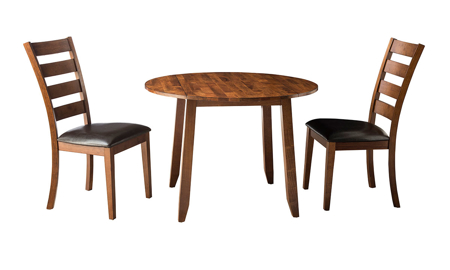 Kona Brandy Solid Mango Wood 3-Piece Round Dining Set