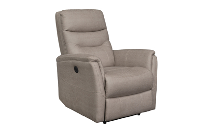 Keystone Beige Power Recliner