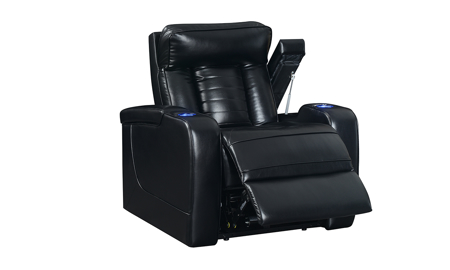 Sarasota Black Power Recliner with Power Headrest