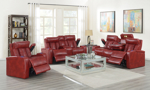Sarasota Red Power Reclining Console Loveseat