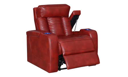 Sarasota Red Power Recliner with Power Headrest
