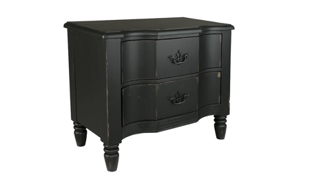 Magnolia Home Waverly Black 2-Drawer Nightstand