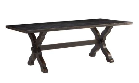 Magnolia Home Sawbuck Black Dining Table