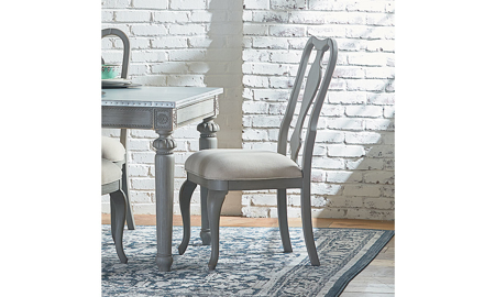Magnolia Home Regina Wren Grey Upholstered Dining Chairs