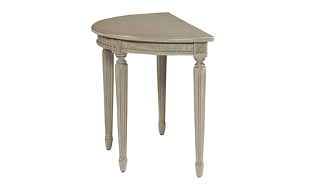 Magnolia Home Grace Wren Grey Demilune Wing Table