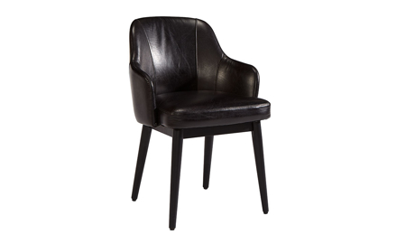 Magnolia Home Adler Black Top Grain Leather Accent Chair