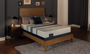 Memory foam mattresses, available in queen or king size, feature Serta's patented Evercool® Fuze gel memory foam and Ultimate Edge® support core.