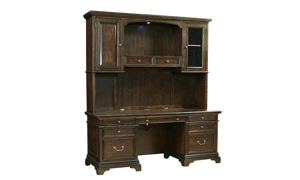 Essex Molasses Executive Desk and Storage Hutch