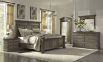 Belle Maison Aged Oak King Bedroom Set with Dresser