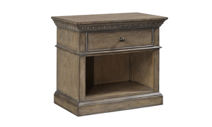 Belle Maison Aged Oak Open 1-Drawer Nightstand
