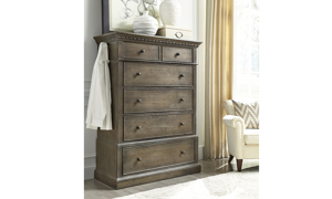 Belle Maison Aged Oak 5-Drawer Chest