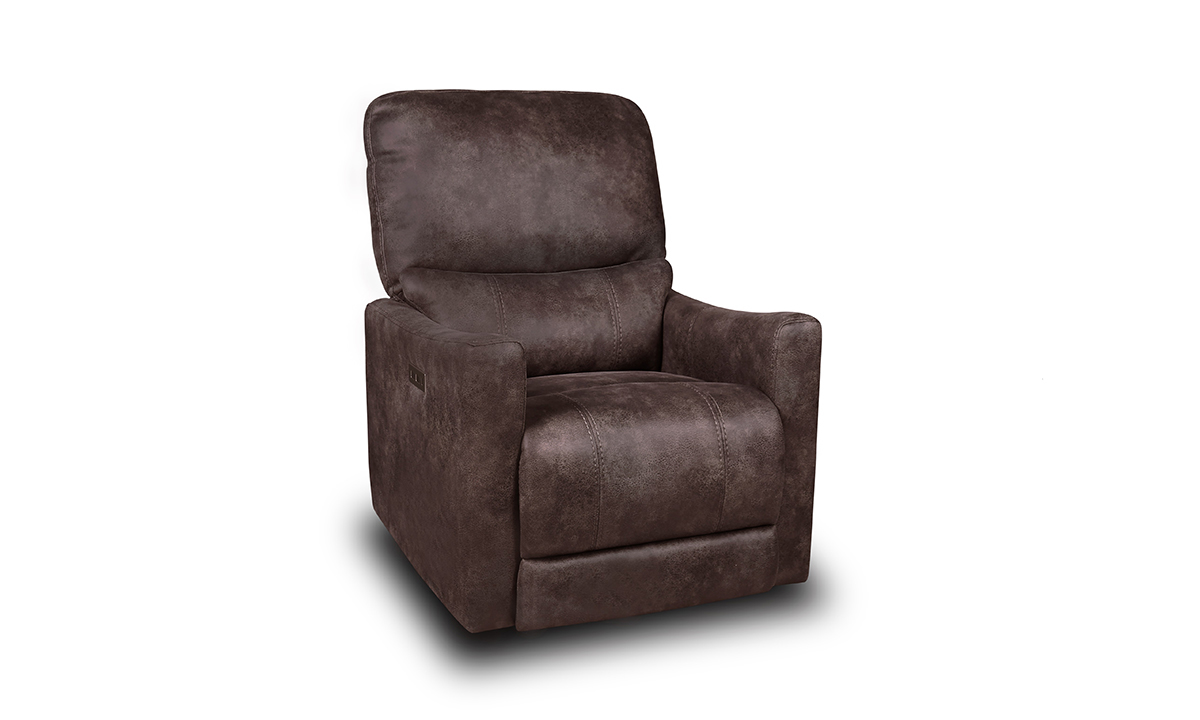 Redmond Smoke Power Layflat Recliner