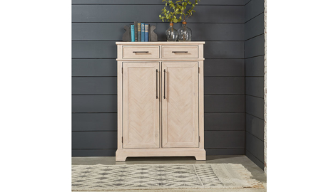 Magnolia Home Station Feather Whitewash Accent Chest