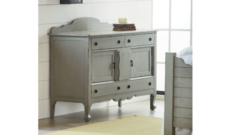 Magnolia Home Silhouette Dove Grey Sideboard Buffet