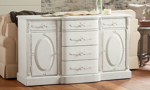 Magnolia Home French Cameo White Sideboard Cabinet