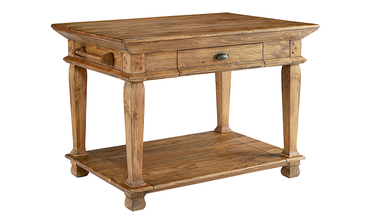 Picture of Magnolia Home Swedish Farm Brown Kitchen Island