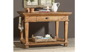 Magnolia Home Swedish Farm Brown Kitchen Island