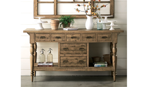 Magnolia Home Provence Salvage Brown Kitchen Island