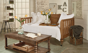 Magnolia Home Framework Toffee Daybed Bench