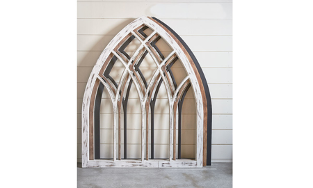Magnolia Home Lancet White Cathedral Arch Wall Panel
