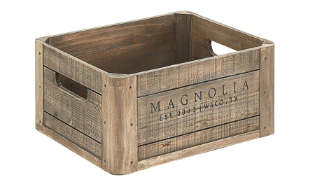Magnolia Home Wooden Storage Crate