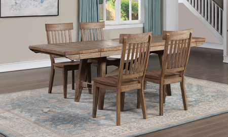 Riverdale Driftwood 5-Piece Dining Set