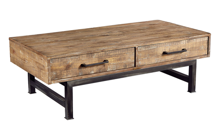 Magnolia Home Pier & Beam Brown Cocktail Table