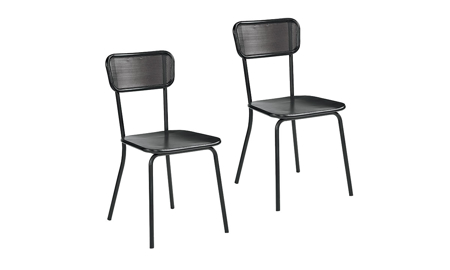 Magnolia Home Method Black Mesh Metal 2-Piece Chair Set