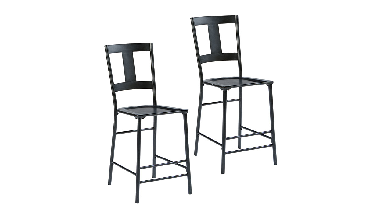 Picture of Magnolia Home T-Back Black Metal 2-Piece Barstool Set