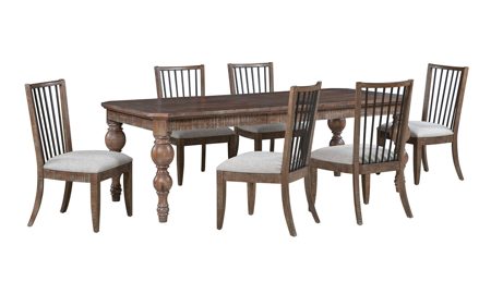 Bohemian Cocoa Brown Dining Table