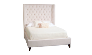 Wilson Ivory Wing Back Upholstered Beds