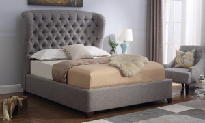 Jones Grey Wing Back Upholstered Beds