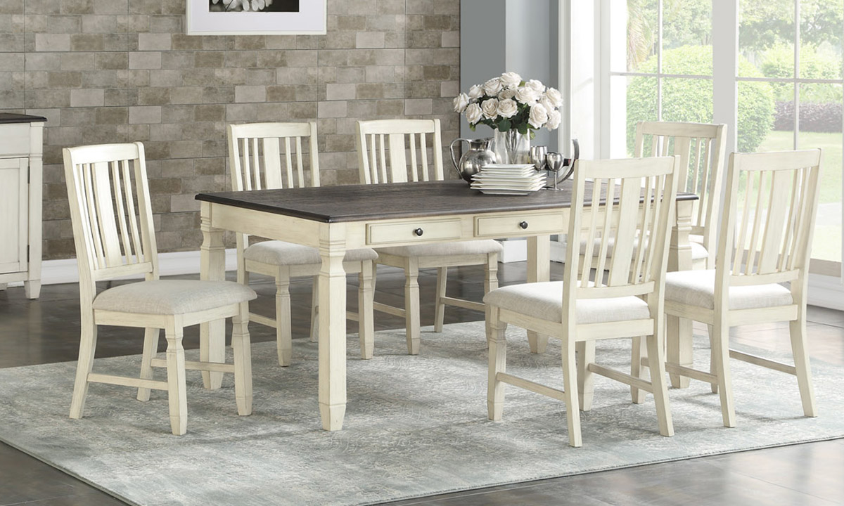Homeplace Dark Oak and White 5-Piece Dining Set