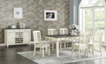 Homeplace Dark Oak and White Dining Table