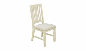 Homeplace Dark Oak and White Side Chair