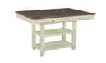 Homeplace Dark Oak and White Counter Height Dining Table