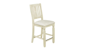 Homeplace Dark Oak and White Counter Height Stool