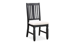 Homeplace Dark Oak and Black Side Chair