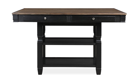 Homeplace Dark Oak and Black Counter Height Dining Table