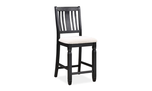 Homeplace Dark Oak and Black Counter Height Stool