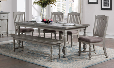 Sandstone French Grey 5-Piece Dining Set
