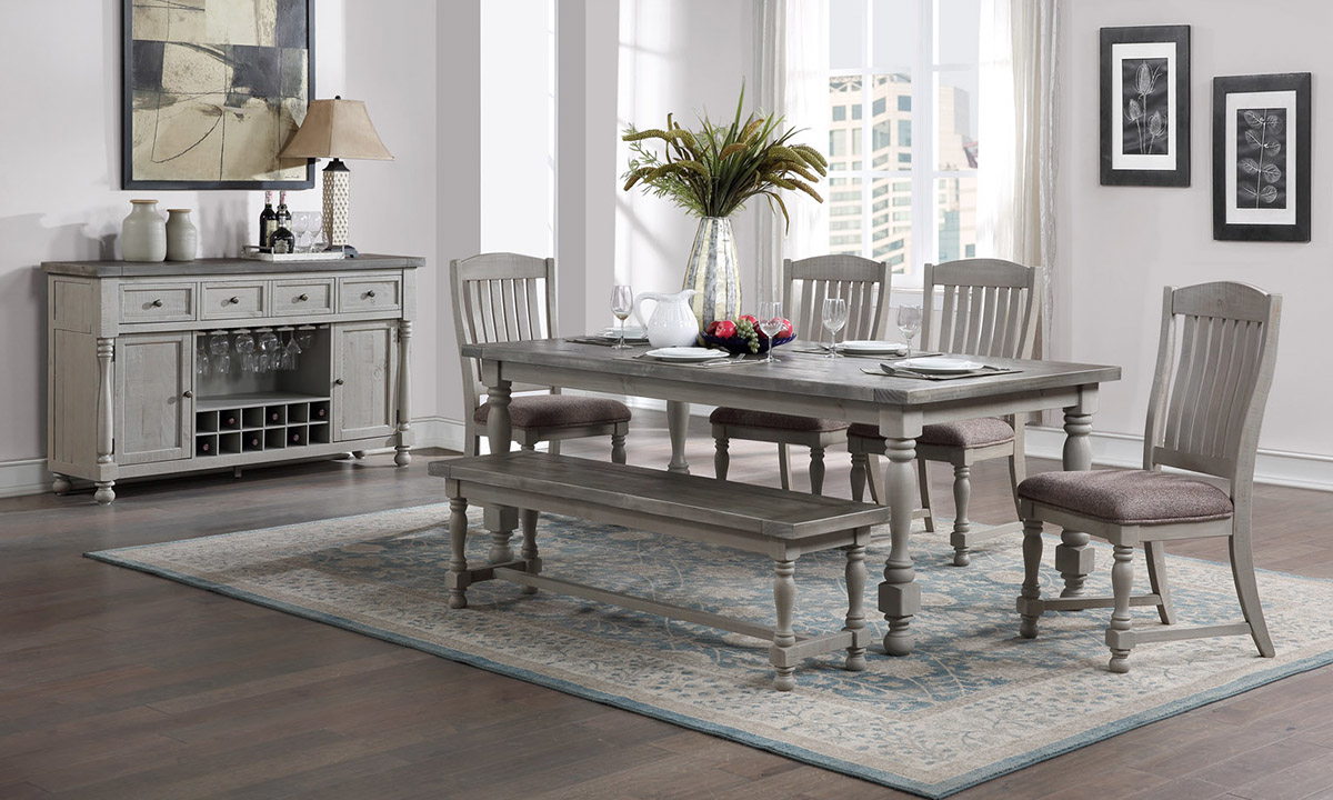 Sandstone French Grey 6-Piece Dining Set